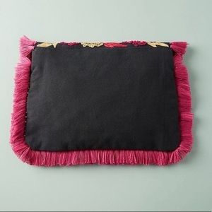 Anthropologie Bags - NWT Anthropologie Bright Tropics Fringe Clutch Bag